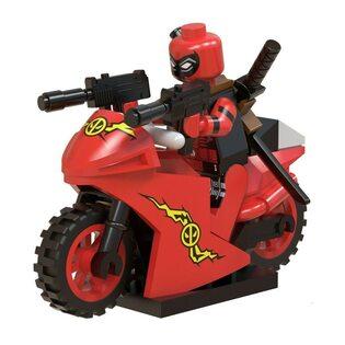 Фигурка Lepin Дэдпул на мотоцикле (Deadpool on a motorcycle)