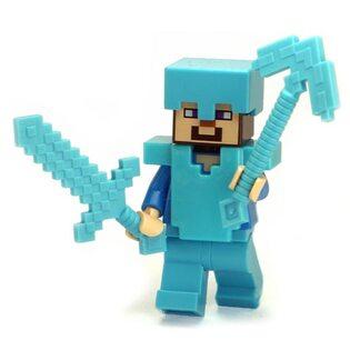 Фигурка Lepin Стив в железной броне : Майнкрафт (Steve: Minecraft)
