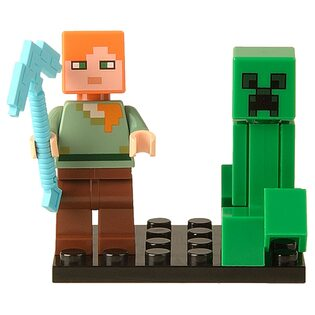 Фигурка Lepin Алекс и Крипер: Майнкрафт (Alex and Creeper: Minecraft)