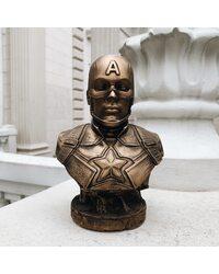 Бюст Капитана Америки (бронза) 17,5 см.