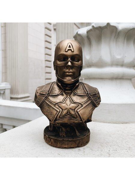 купить Бюст Капитана Америки (бронза) 17,5 см., в Ростове с доставкой