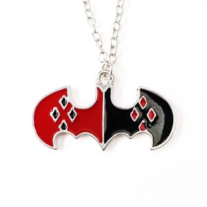 Кулон Бэтмен лого красно-черный