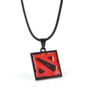 Кулон Дота 2 красно черный (медальон)