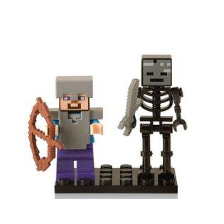 Фигурка Lepin Стив со Скелетом: Майнкрафт (Steve: Minecraft)