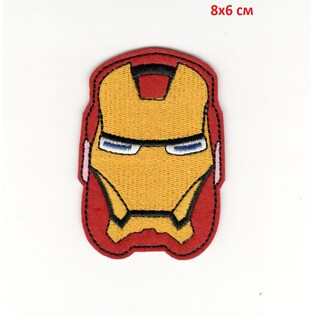 Нашивка Железный Человек красная (Iron Man 8 см.)
