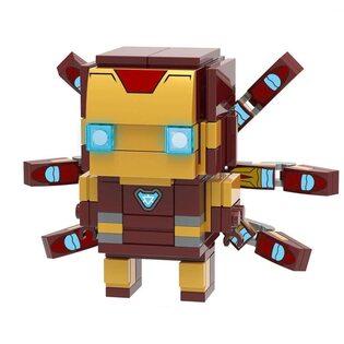 Фигурка Lepin Железный человек (Iron Man) Brickheadz 7 см.