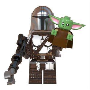 Фигурка Lepin Мандалорец с Малышом Йодой (Mandalorian with Baby Yoda)