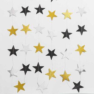Гирлянда Звездочки для праздника разноцветные