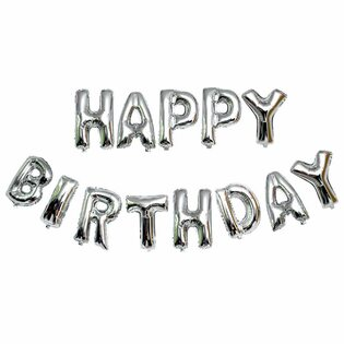 Набор Надувных букв Happy Birthday в ассортименте