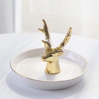 Декоративная тарелочка Олень