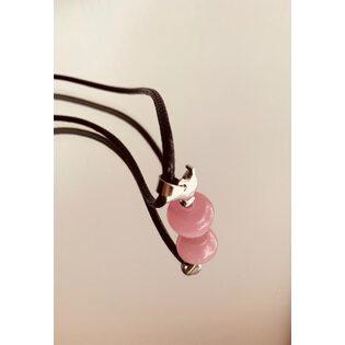 Кулон Яблоко розовое