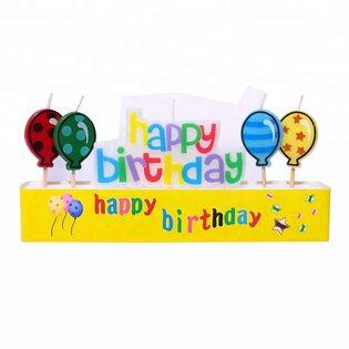 Свечи для торта Happy Birthday и шары