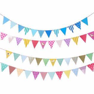 Флажки для праздника треугольные в ассортименте