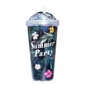 Стакан с трубочкой Summer Party 420 мл.