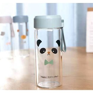 Бутылочка Happy every day! Панда стеклянная 300 мл.