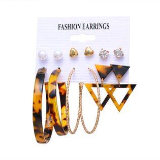 Набор Сережек Fashion Earrings №13 (6 шт.)