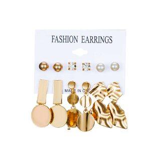 Набор Сережек Fashion Earrings №17 (6 шт.)