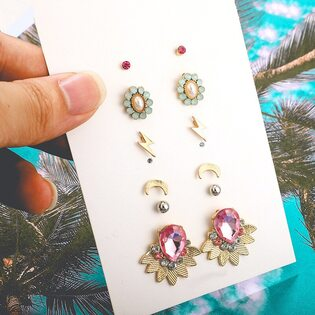 Набор Сережек Fashion Jewelry №2 (6 шт.)