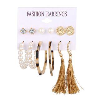 Набор Сережек Fashion Earrings №8 (6 шт.)