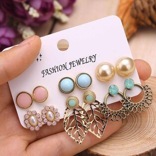 Набор Сережек Fashion Earrings №5 (6 шт.)