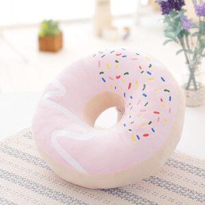 Мягкая игрушка Пончик розовый 40 см.