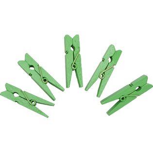 Набор прищепок Зеленые (20 шт.)