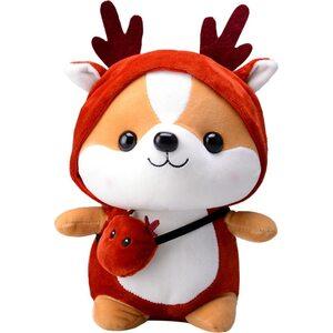 Мягкая игрушка Лисенок в костюме оленя 40 см.