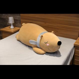Мягкая игрушка Спящий Медведь коричневый 60 см.
