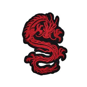 Нашивка Красный дракон 7,5 см.