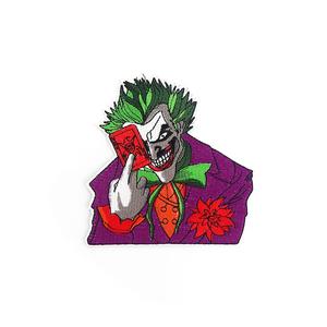 Нашивка Джокер с картой 11 см.