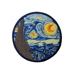 """Нашивка Ван Гог """"Звёздная ночь"""" 8 см."""