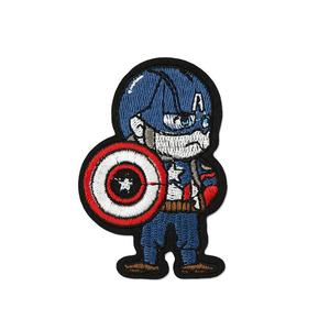 Нашивка Капитан Америка 8 см.
