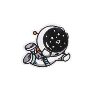 Нашивка Космонавт летящий 5 см.