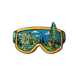Нашивка Горы в очках 8,5 см.