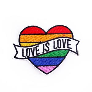 Нашивка Love is love 7 см.