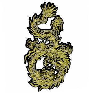 Нашивка Дракон золотой 30 см.