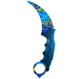 Нож CS:GO Керамбит Поверхностная закалка v2. (Case hardened 21 см.)