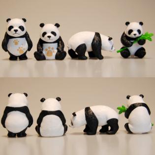 Фигурка из набора Панда (Набор 4 шт.) 5 см.