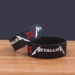 Браслет широкий Metallica черный