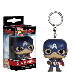 Брелок Funko POP Капитан Америка с щитом (Captain America)