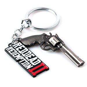 Брелок Red dead redemption лого с пистолетом