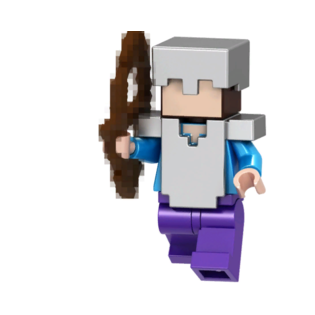 Фигурка Lepin Стив-зомби с овечкой: Майнкрафт (Steve Zombie: Minecraft)