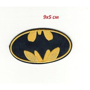 Нашивка Бэтмен желтая 9 см.