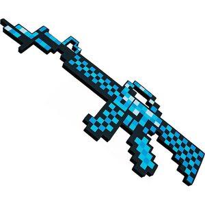Автомат Майнкрафт голубой (Minecraft) 63 см.