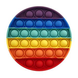 Антистресс Пупырка круглый радуга