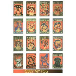 Стикерпак 081 Obey my dog.Формат А4