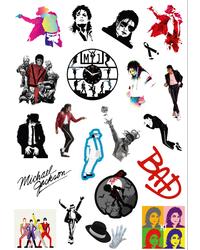 Стикерпак 043 Майкл Джексон.Формат А4