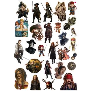 Стикерпак 033 Пираты Карибского моря.Формат А4
