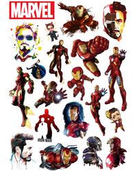 Стикерпак 157 Железный Человек (Iron Man).Формат А4