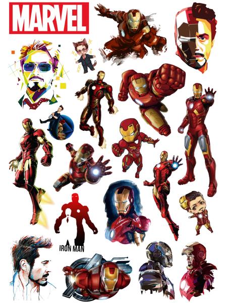 купить Стикерпак 157 Железный Человек (Iron Man).Формат А4, в Ростове с доставкой